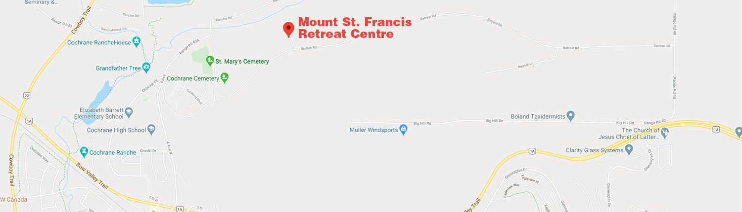 Mount St. Francis retreat centre map